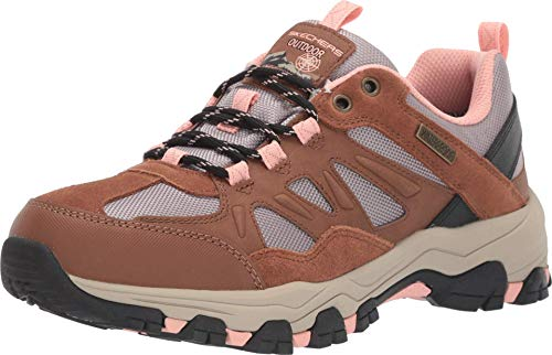 Skechers Damen Selmen-West Highland Sneaker, Braun (Brown Leather/Tan Textile/Light Coral Trim Brtn), 38 EU