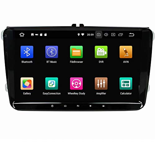 ROADYAKO Unité Principale pour VW Universal Android 8.1 Autoradio Stéréo avec Navigation GPS 3G WiFi Lien Miroir RDS FM AM Bluetooth Multimédia Audio Vidéo