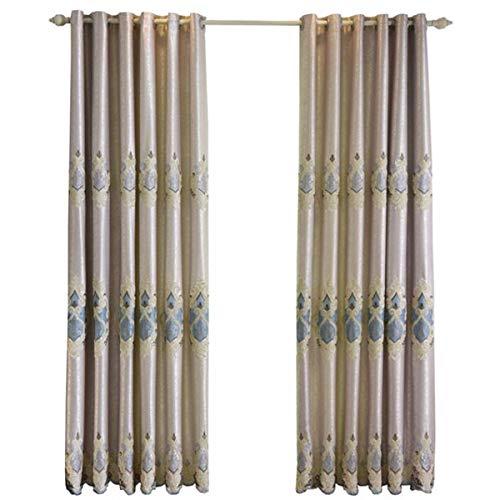 WBXZAL-Rideaux Le Salon de Style européen au Tissu Jacquard brodé de fenêtres Rideau,250,À