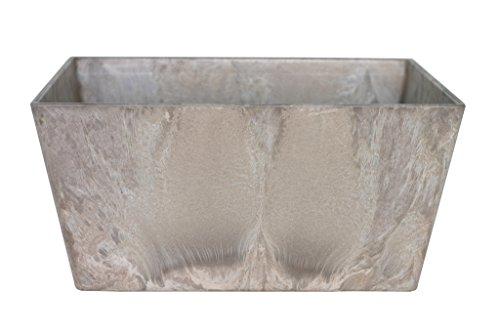 Artstone Pflanzschale Pflanzgefäß Ella, frostbeständig und leichtgewichtig, 35 x 16 cm, braun/taupe