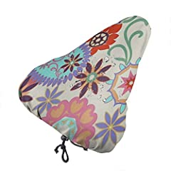 ã€Material】Our bicycle saddle cover made of high quality Waterproof polyester , protects your bike seat from rain weather, dew, dirt, wind, damage, keeps your bum dry! Also protects your saddle from damaging sun rays, heat & dust. UV resistant, pre...