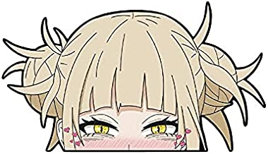 My Hero Academia Manga Character Himiko Toga Reflective Car Window Sticker Peeker Cartoon Waterproof Bumper Scratch Resist...