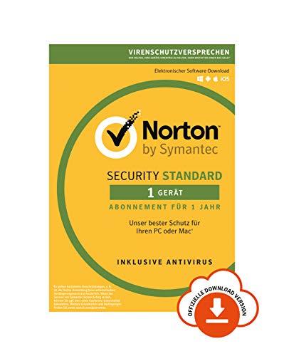 Norton Security Standard 2019 | 1 Gerät | 1 Jahr | PC/Mac/Android/iOS | Download, Aktivierungscode per Email