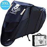 ClawsCover 3XL Motorcycle Covers Waterproof 420D Oxford 114 Inches All Season Heavy Duty Windproof Tearproof Fadeless Outdoor Protection Bike Cover for Harley Davidson Suzuki Kawasaki and More