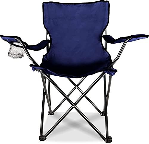 MCKEYEN El Respaldo Plegable del Taburete de Pesca Es Adecuado para El Ocio Al Aire Libre La Silla de Playa con Apoyabrazos de Tela Oxford Engrosada Se Puede Utilizar para Caminatas y Barbacoas,Azul