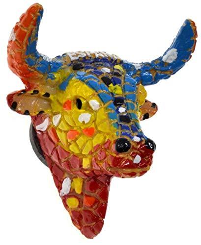 SP4 Toro español 3D Imán de refrigerador Torero España Etiqueta magnética España Imán de refrigerador Imán de refrigerador Insignia magnética Toros Imán de nevera español