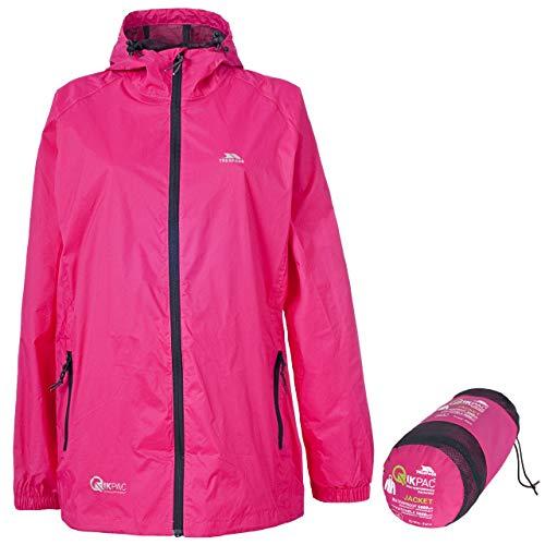 Trespass Qikpac Jacket, Sasparilla, M, Kompakt Zusammenrollbare Wasserdichte Jacke für Damen und Herren / Unisex, Medium, Rosa / Pink