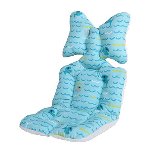 Cojín para cochecito de bebé, forro universal, cojín de algodón transpirable para bebé, forro de asiento de coche de algodón, asiento de coche universal de algodón