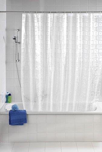 WENKO 21271100 Duschvorhang Retro - 3D Effekt, Kunststoff - PEVA, Transparent