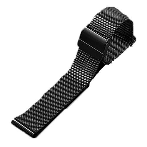 FJXJLKQS Correa De Reloj Correa De Reloj De Repuesto De Malla De Acero Inoxidable Ajustable Transpirable E Impermeable Cierre Rápido,B-12mm