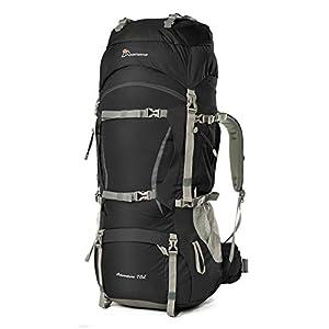 Mountaintop 70L /75L バックパック メンズ リュック 登山 大容量ザック 軽量 長期旅行 ハイキング キャンプ用 リュックサック アウトドアバッグ レインカバー付き 撥水