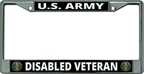 Diuangfoong Marco de matrícula cromado veterano del ejército de los Estados Unidos