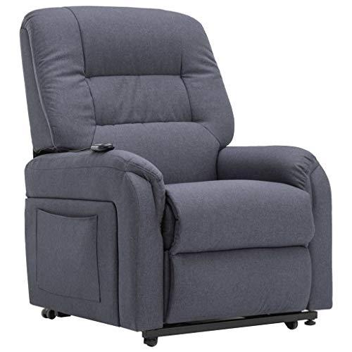 pedkit Sillones y chaises Longues Sillón de Masaje reclinable para TV Cuero sintético Gris Oscuro