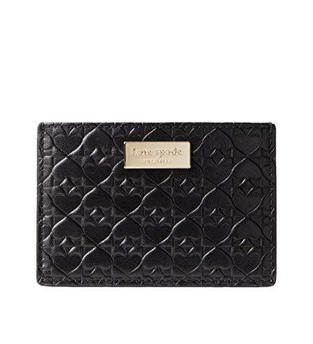Kate Spade New York  Graham Embossed Wallet Business Card Holder Credit Card Case Black ,Small