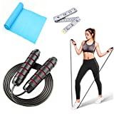 3 Pack Jump Rope for Workout, Adjustable Skipping Rope Tangle-Free with Ball Bearings Rapid Speed Jumping Rope Cable for Adult and Kids,Workout Exercise Fitness Bands for Endurance Training(2 Pack)
