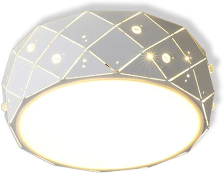 GaoHXCeiling Lights Deckenleuchte, Moderne minimalistische runde deckenleuchte Schlafzimmer Wohnzimmer atmosphre high-end LED hauptschlafzimmer kreative schmiedeeisen Studie Hause Beleuchtung
