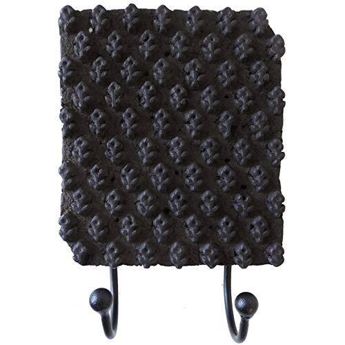 Allasta Wall Hook Coat Towel Robe Bag Door Double Carved Batik Block Mounted Rack Bathrooms Bedroom Decorative Hangers Black Racks Styles Vary