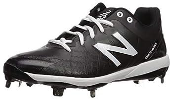 New Balance mens 4040 V5 Metal Baseball Shoe Black/White 9.5 US