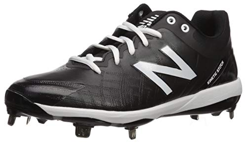 New Balance Men's 4040 V5 Metal Baseball Shoe, Black/White, 5 M US