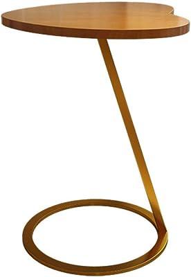 XZGang ホームティーテーブル、木製のハート型の装飾コーヒーテーブルバルコニーカフェティールームサイドテーブルバイザソファサイドテーブル シンプルな人生を創造する (Color : A, Size : 45*45*60CM)