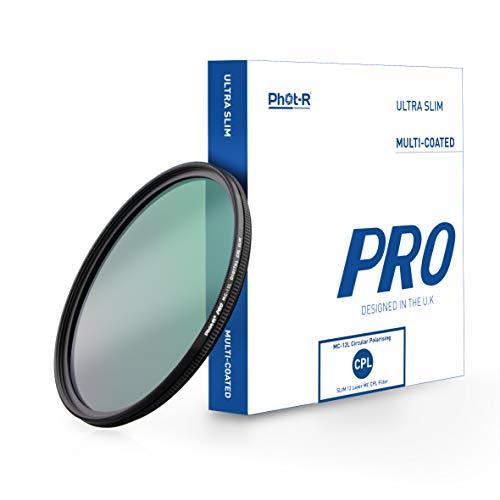 Phot-R 67mm PRO Digitaler Zirkular-Polfilter Polarisationsfilter, Kamera Objektiv CPL-Gewindefilter mit Linse, Metallfassung