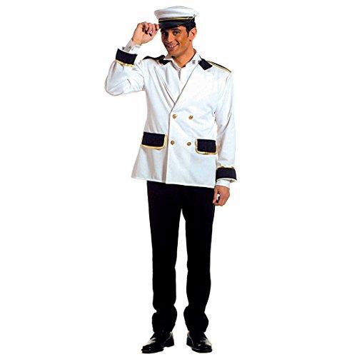 NET TOYS Veste de Capitaine déguisement Capitaine Veston Main Costume de Capitaine Jaquette Veste de Marin Carnaval Mardi Gras M 46/48