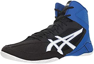 ASICS Mens Cael V8.0 Wrestling Shoes (10.5 M US, Black/White)