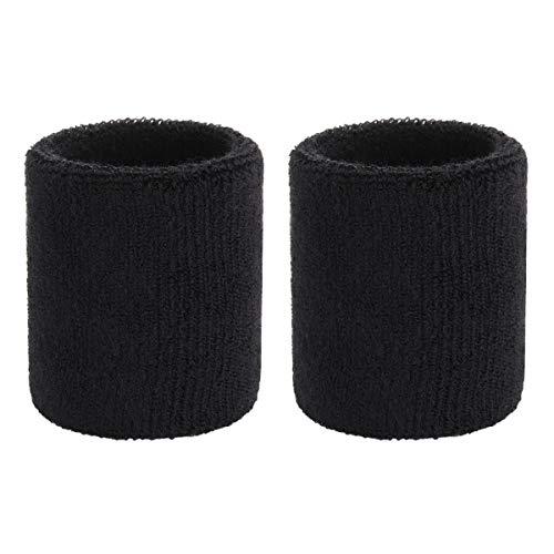 OnUpgo Schweißband Baumwolle Sport Schweißband für Frauen Herren - Feuchtigkeit Dochtstoff Armband (Paar)