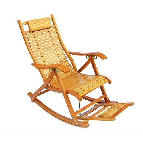YNLRY Silla mecedora plegable para almuerzo, descanso, silla de descanso, silla para hombre viejo,...
