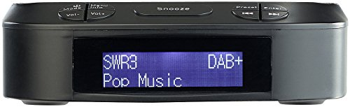 VR-Radio Funk Radiowecker: Digitaler Radiowecker mit DAB+ & UKW-Empfang, 10 Stations-Speicher (DAB Wecker)