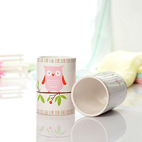 Brandream 5 Piece Kids Bathroom Sets Owl Bathroom Accessories Set Ceramic Buy Online In United Arab Emirates At Desertcart Ae Productid 31632109