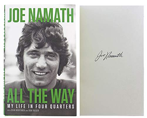 Jets Joe Namath Signed All The Way First Edition Hard Cover Book BAS - NFL Autographed Miscellaneous Items