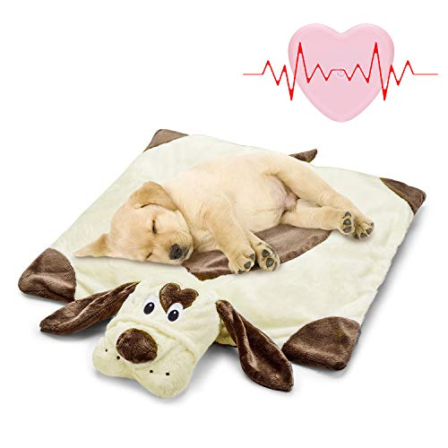 Moropaky Puppy Heartbeat Toy Puppy Bed...