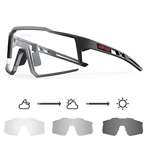 KAPVOE Gafas de Ciclismo Fotocromáticas con TR90 Gafas de Sol Deportivas Mujeres Hombres Running Transparente MTB Bicicleta Accesorios 08