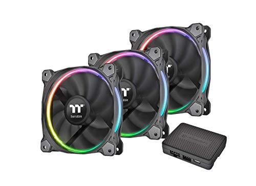 Thermaltake Riing 12 RGB Sync Edition case Fan (3 Pack, Compatible with ASUS, Gigabyte, MSI, Asrock and Biostar)