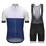 JSL Shorts de Ciclismo de Secado rápido Kits de Ciclismo con Babero y Jersey Kit de Ropa de equitación MTB