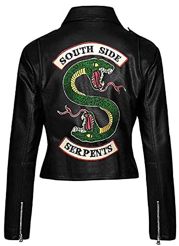 Red Smoke Riverdale Southside Serpents Jughead Jones Cole Sprouse Jacke Gr. Small, Kunstleder