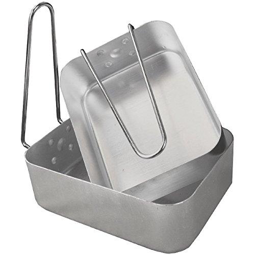 Juego de Cocina de Aluminio con Asas Plegables   2 tamaños, Color Plateado, CS016