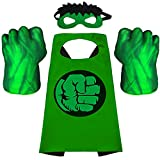 Superhero Hands and Capes for Kids Superhero Boxing Gloves Toys Fists for Kids Soft Plush Superhero Toys Accessories Superheros Soft Plush Toys Cosplay for Boy Girl Christmas Halloween Birthday Gifts