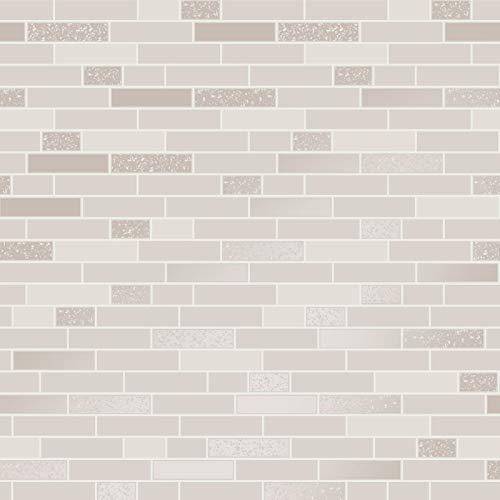 Papier peint effet carrelage brique pailletée rectangulaire granit pour cuisine ou salle de bain