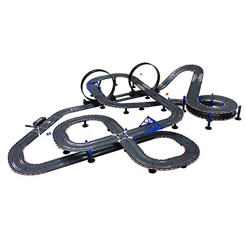AEDWQ Kids Toy-Electric Powered Slot Car Race Track Set High Speed Electric Super Loop Speedway Slot Car with Two Cars for Dual Racing Boy Girl Best Gifts(1/43) (Color : 15.4M, Size : Electric)