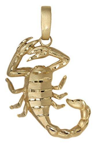MyGold Skorpion Anhänger (Ohne Kette) Gelbgold 585 Gold (14 Karat) Sternzeichen Kettenanhänger Herrenanhänger Octandre V0006645
