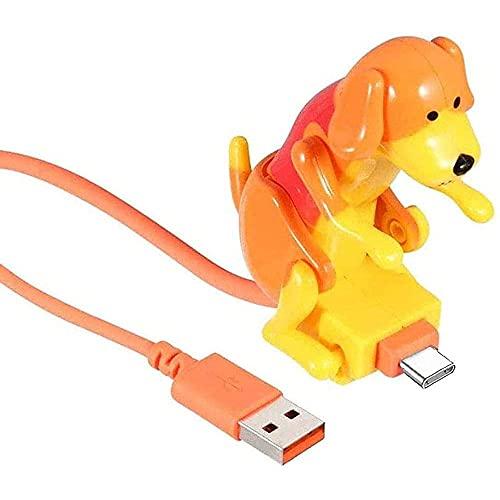 WESD Cable de carga para perros callejeros, mini juguete para perros con diseño de lunares, cargador de cable USB para teléfonos inteligentes tipo C, para teléfonos Android tipo C