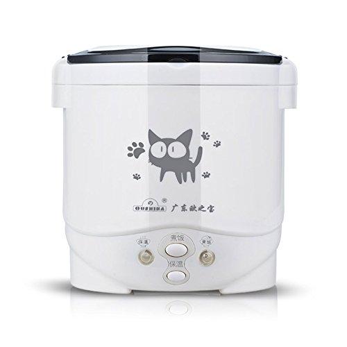 Mini cocina de arroz eléctrica portátil, 24 V para camión, placa de acero inoxidable, olla interior antiadherente, 1.0 L Mini arrocera para 1 – 2 personas