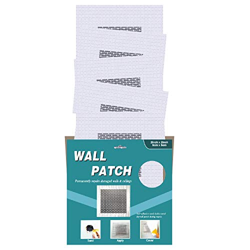 Drywall Patch, 2x2 in, 5 Pcs, Self-Adhesive Aluminum and Fiberglass Material for Wall Hole Repair, (2x2-5P)