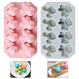 YUESEN Silikon Süßigkeiten Formen 2PCS Silikon Backform Kuchenform Mickey Minnie Silikonformen Eiswürfelform Schokoladen Süßigkeiten Formen DIY handgefertigt Tools für Jelly Sugar Candy