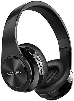 Soulsens Lightweight Foldable Bluetooth V5.0 Headphones with Mic