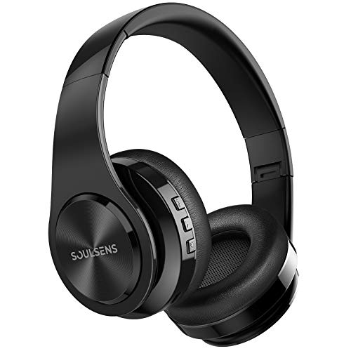 Cuffie Wireless Over Ear con 140 H, Cuffie Wireless 5.0, USB-C, Audio Stereo Hi-Fi, Microfono Incorporato, Cuffie Leggere per Bambini per TV, PC, Cellulari, Home Office