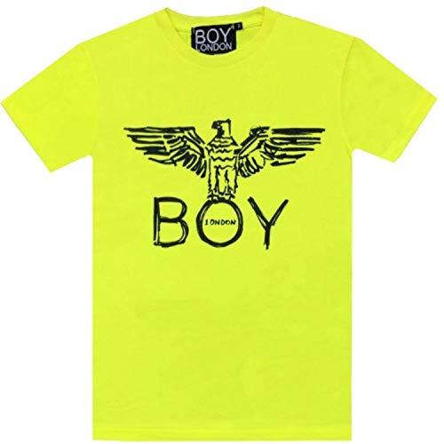 BOY LONDON Fluò Pack T-Shirt Uomo Verde Acido E Nera, Giallo, L