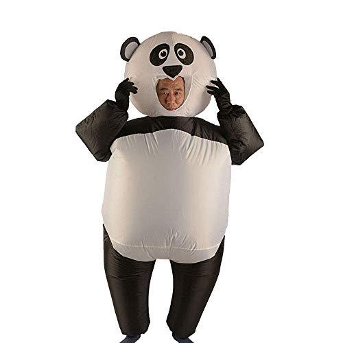 MHSHCQ Lustiger Panda Aufblasbares Kostüm Blow Up Kostüm für Halloween Cosplay Party Weihnachten Aufblasbare Erwachsene Pandakleidung Suitable for Height 150-190 cm